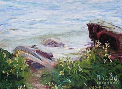 Nyack Beach Rivers Edge Print by Laura Sullivan