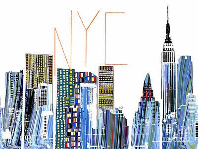 Empire State Building Mixed Media - N.y.c by Bri B