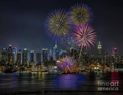 Fireworks Photograph - Nyc Celebrates Fleet Week by Susan Candelario