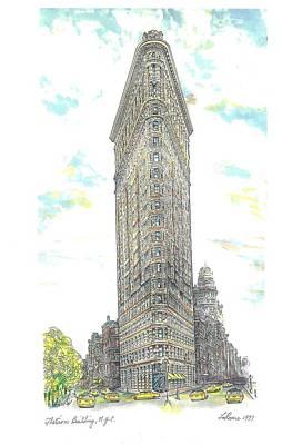 Nyc Flatiron Building Original by Richard La Rovere