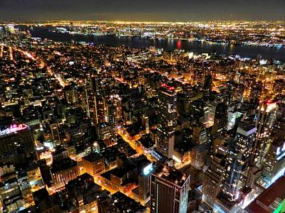 Nyc - From The Empire State Bldg. 002 Print by Lance Vaughn