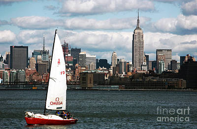 Of Artist Photograph - Nyc Harbor View by John Rizzuto