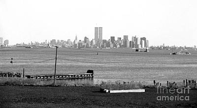 Nyc In The Distance 1990s Print by John Rizzuto
