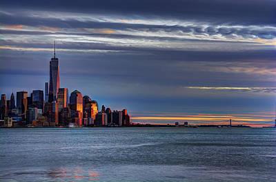 New York City Skyline Photograph - Nyc Setting Sun by Ryan Crane