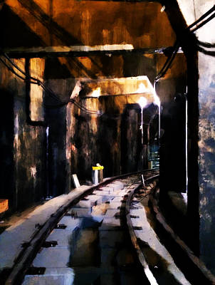 London Tube Digital Art - Nyc Subway by H James Hoff