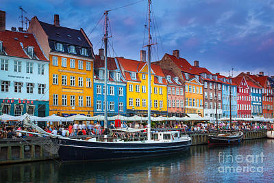 Danish Photograph - Nyhavn Canal by Inge Johnsson