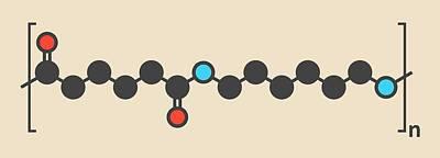Polymer Photograph - Nylon Plastic Polymer Molecule by Molekuul