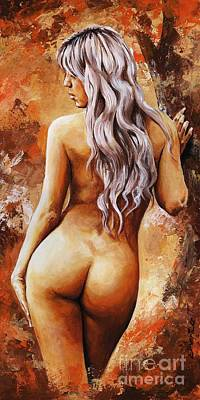 Nudes Painting - Nymph 02 by Emerico Imre Toth
