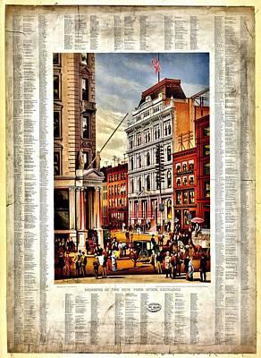 Nyse 1882 Print by Benjamin Yeager