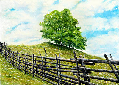 Acrylics Painting - O Beautiful For Spacious Skies by Kimberly Shinn