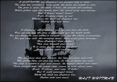 O Captain My Captain Print by Dan Sproul