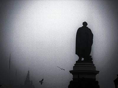 O O'connell Street Under Fog Print by Patrick Horgan