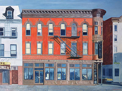 Storefront Painting - O Sunghai Restaurant West Village by Anthony Butera