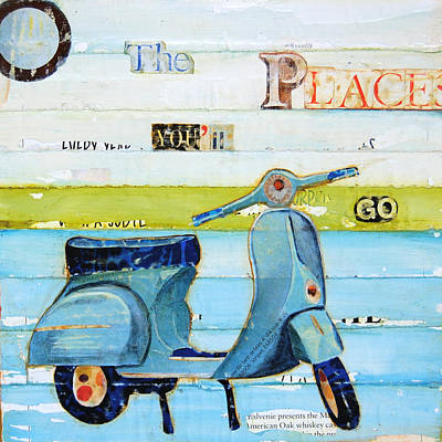 Playful Mixed Media - O' The Places You'll Go by Danny Phillips