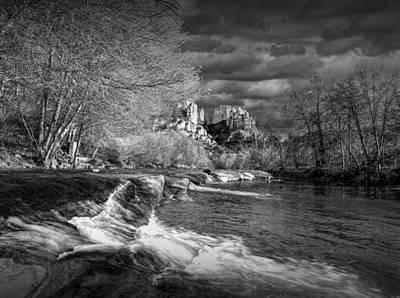 Oak Creek Flowing Below Cathedral Rock Print by Randall Nyhof