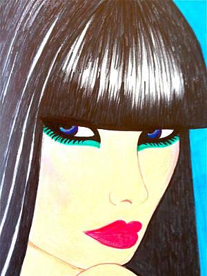 Blue Eyes Print by Alesya Cabral