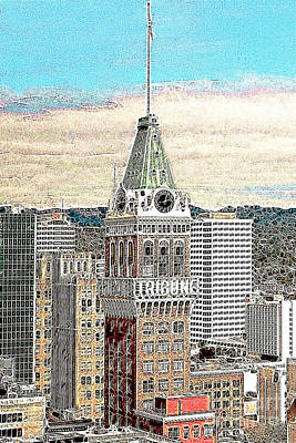Oakland Tribune Building Oakland California 20130426 Print by Wingsdomain Art and Photography