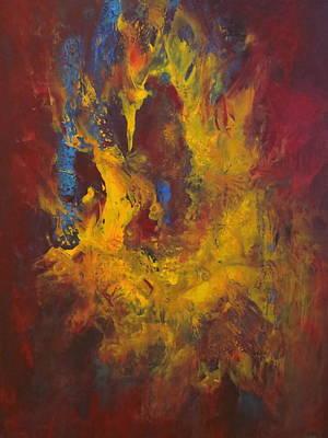 Abstract Painting - Oasis by Soraya Silvestri