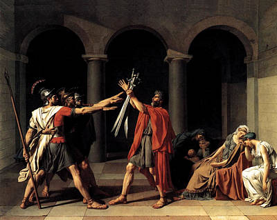 Patriotism Painting - Oath Of The Horatii  by Jacques Louis David