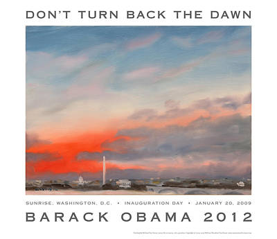 Inauguration Painting - Obama Campaign Poster 2012 by William Van Doren