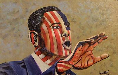 Obama...a State Of Mind Print by James  Lalepop Becker