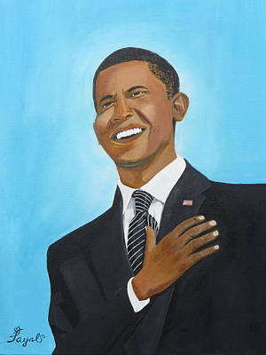Inauguration Painting - Obama's First Inauguration by Artistic Indian Nurse