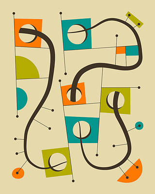 Modern Abstract Art Digital Art - Objectified #6 by Jazzberry Blue