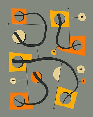 Modern Abstract Art Digital Art - Objectified 9 by Jazzberry Blue