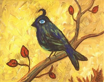 Observant Bird 101 Print by Linda Mears
