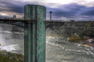 Observation Tower At Niagara Falls Usa Print by Michael Frank Jr
