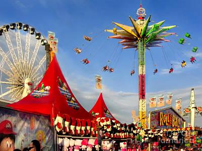Hot Pink Ferris Wheel Photograph - Oc Fair Fun by Jennie Breeze