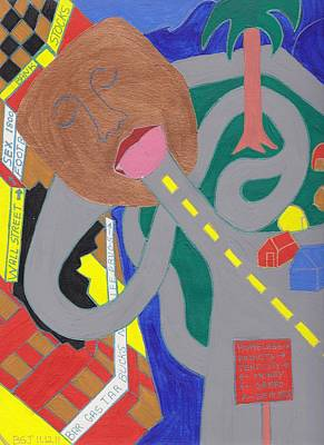 Barbara St. Jean Drawing - Occupy What by Barbara St Jean