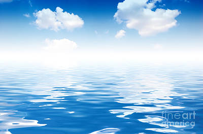 Coastline Photograph - Ocean And Sky Background by Michal Bednarek