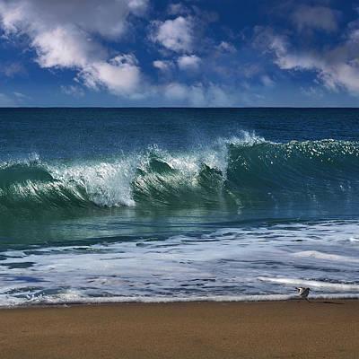 Ocean Blue Morning 2 Print by Laura Fasulo