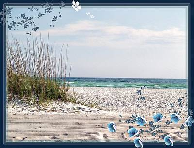 Florida Flowers Digital Art - Ocean Breeze by Athala Carole Bruckner