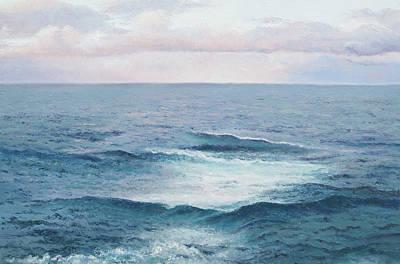 Cabin Interiors Painting - Ocean By Jan Matson by Jan Matson