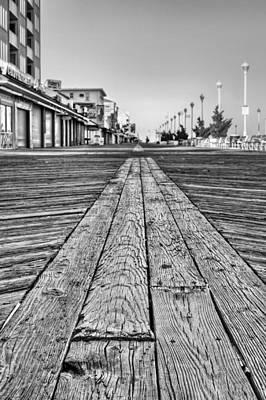 Ocean City Bw Print by JC Findley