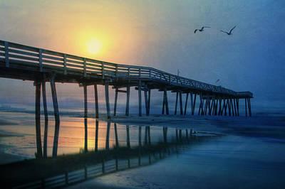 Beautiful Scenery Digital Art - Ocean City Pier by Lori Deiter