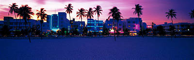 Ocean Drive Miami Beach Fl Usa Print by Panoramic Images