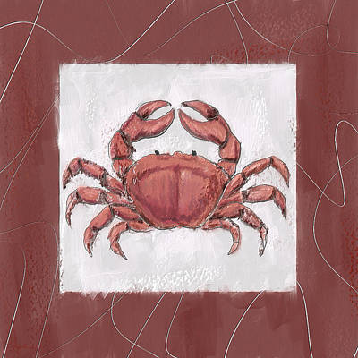 Ocean Finest-marsala Pantone 18-1438 Print by Lourry Legarde