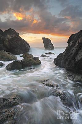 Ocean Flows Through The Channel At Lighthouse Beach Port Macquar Print by Leah-Anne Thompson