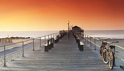 Ocean Grove Jetty In Nj Print by Sean Davey