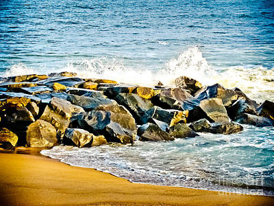 Ocean Jetty Print by Colleen Kammerer