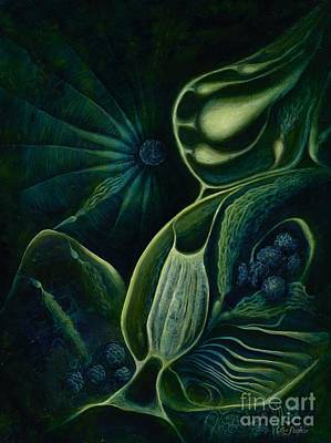 Plankton Painting - Ocean Mother by Lyn Pacificar