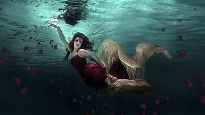 Ocean Of Roses Print by Martha Suherman
