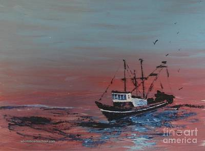 Old Man Fishing Painting - Ocean Rider by PainterArtist FIN