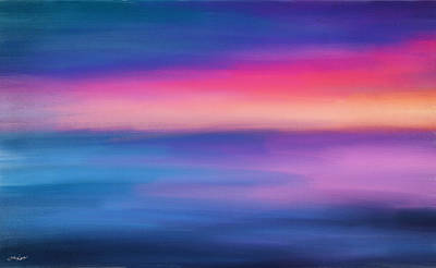 Abstract Seascape Digital Art - Ocean Rises by Lourry Legarde