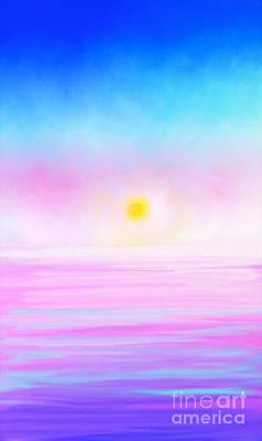 Artrage Painting - Ocean Sunset by Anita Lewis