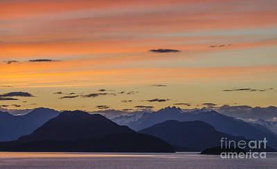 Red Photograph - Ocean Sunset At British Columbia by Ning Mosberger-Tang