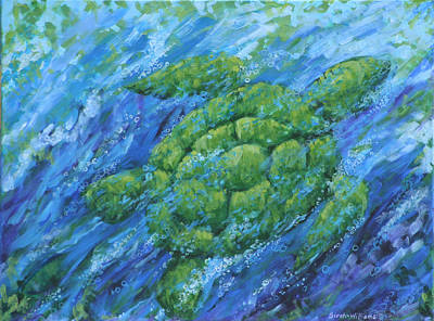 Nature Painting - Ocean Voyager by Penny Birch-Williams